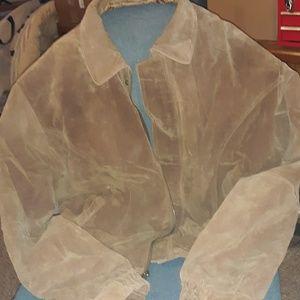 Vintage Caribou Creek Suede Leather Bomber Jacket